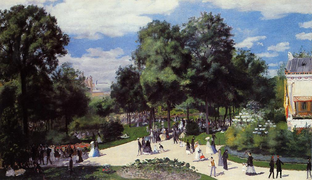 The Champs-Elysees during the Paris Fair of 1867 1867 | Pierre Auguste Renoir | Oil Painting