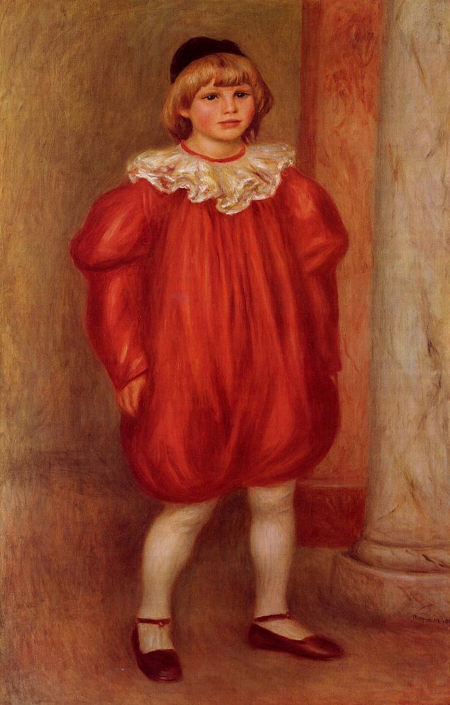 The Clown (aka Claude Ranoir in Clown Costume) 1909 | Pierre Auguste Renoir | Oil Painting