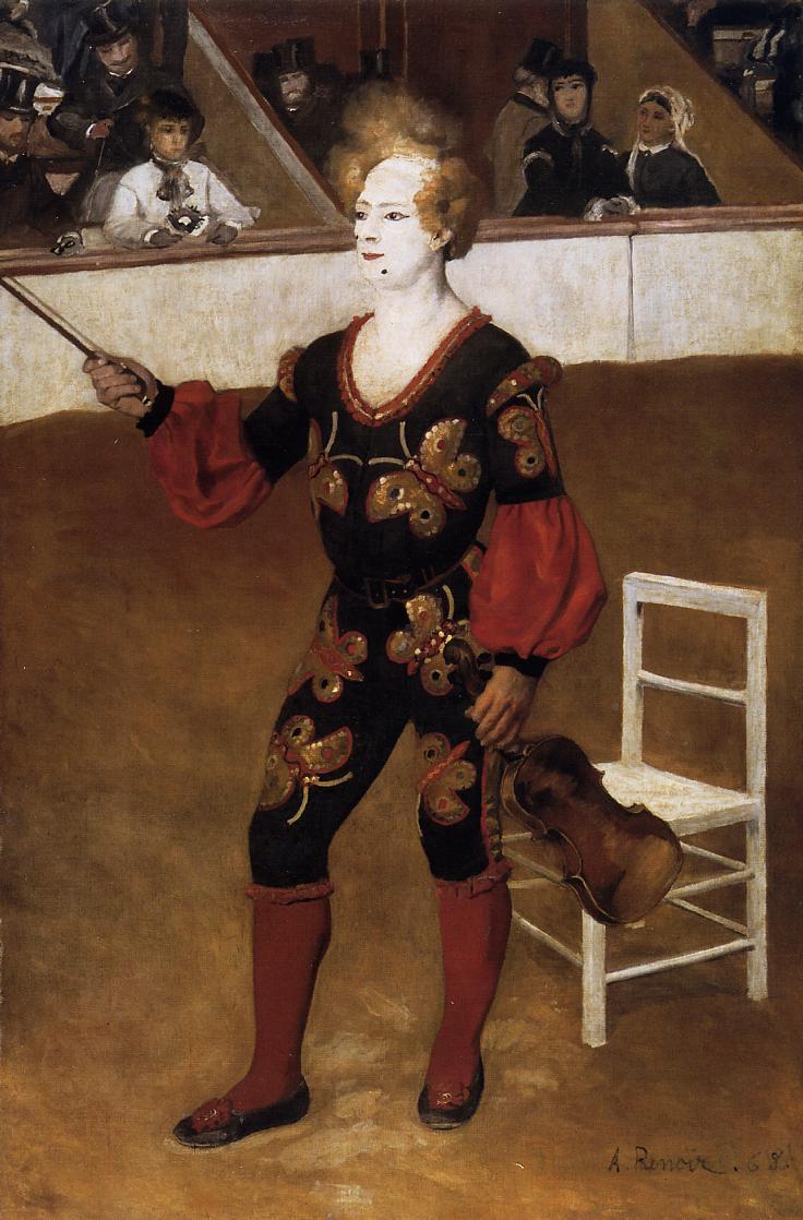 The Clown (aka James Bollinger Mazutreek) 1868 | Pierre Auguste Renoir | Oil Painting