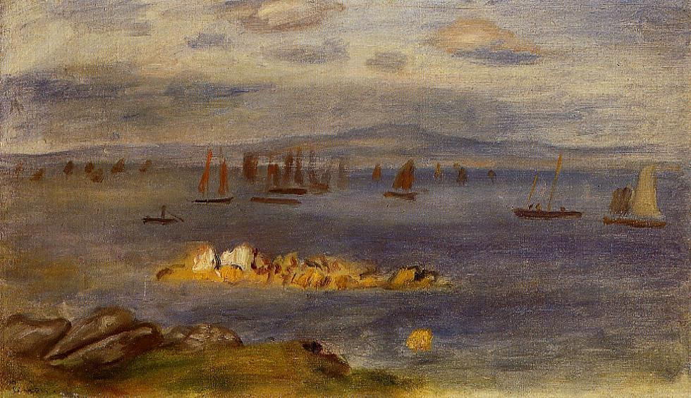 The Coast of Brittany Fishing Boats 1878 | Pierre Auguste Renoir | Oil Painting