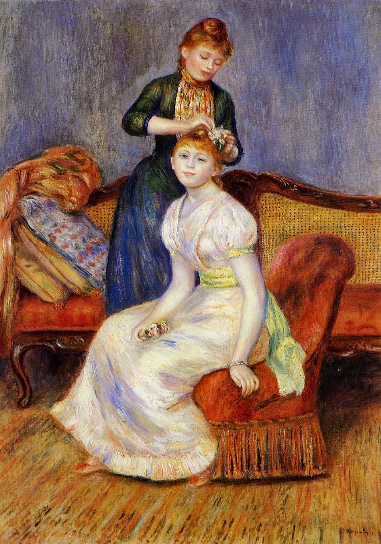 The Coiffure 1888 | Pierre Auguste Renoir | Oil Painting