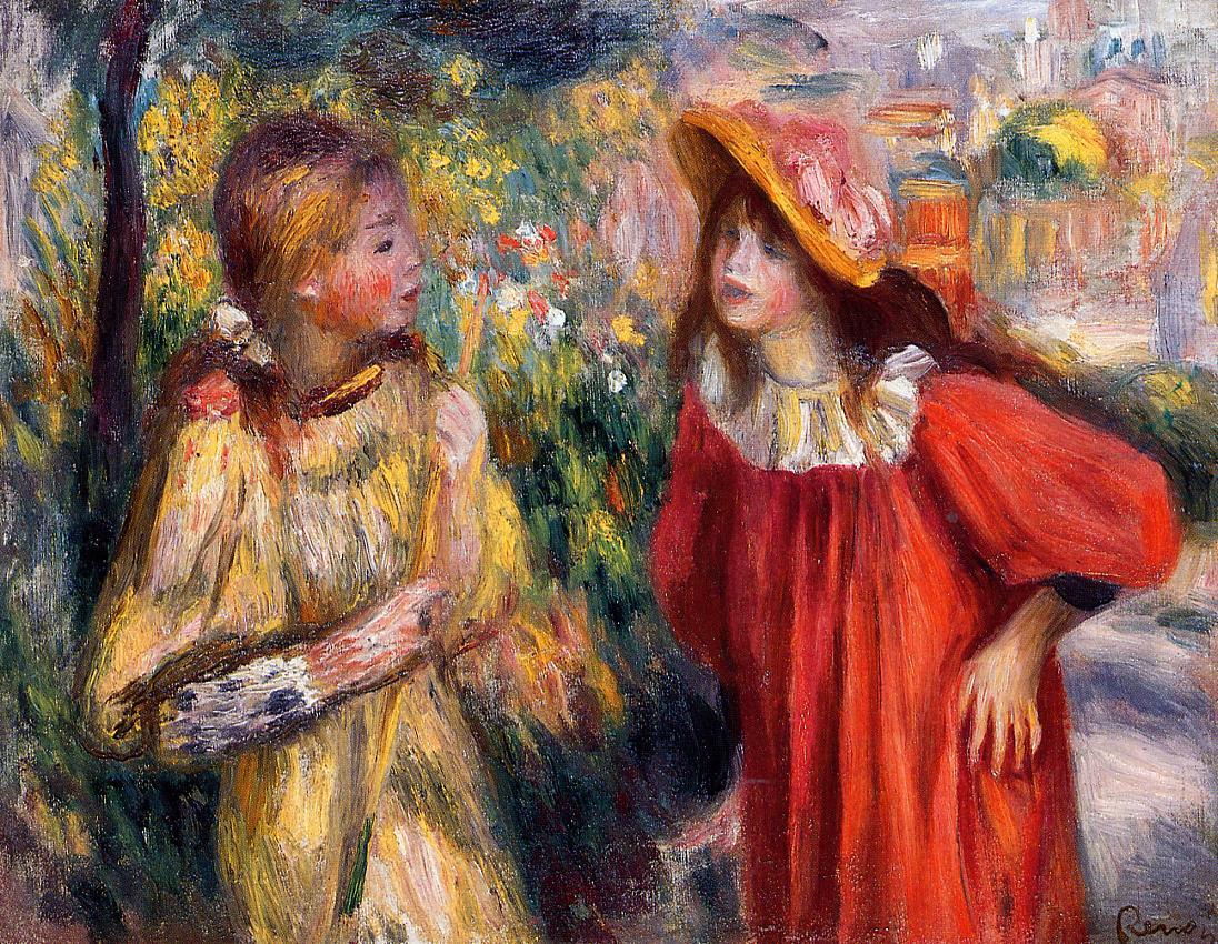 The Conversation 1895 | Pierre Auguste Renoir | Oil Painting