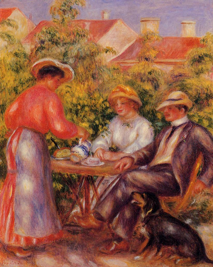 The Cup of Tea 1906-1907 | Pierre Auguste Renoir | Oil Painting