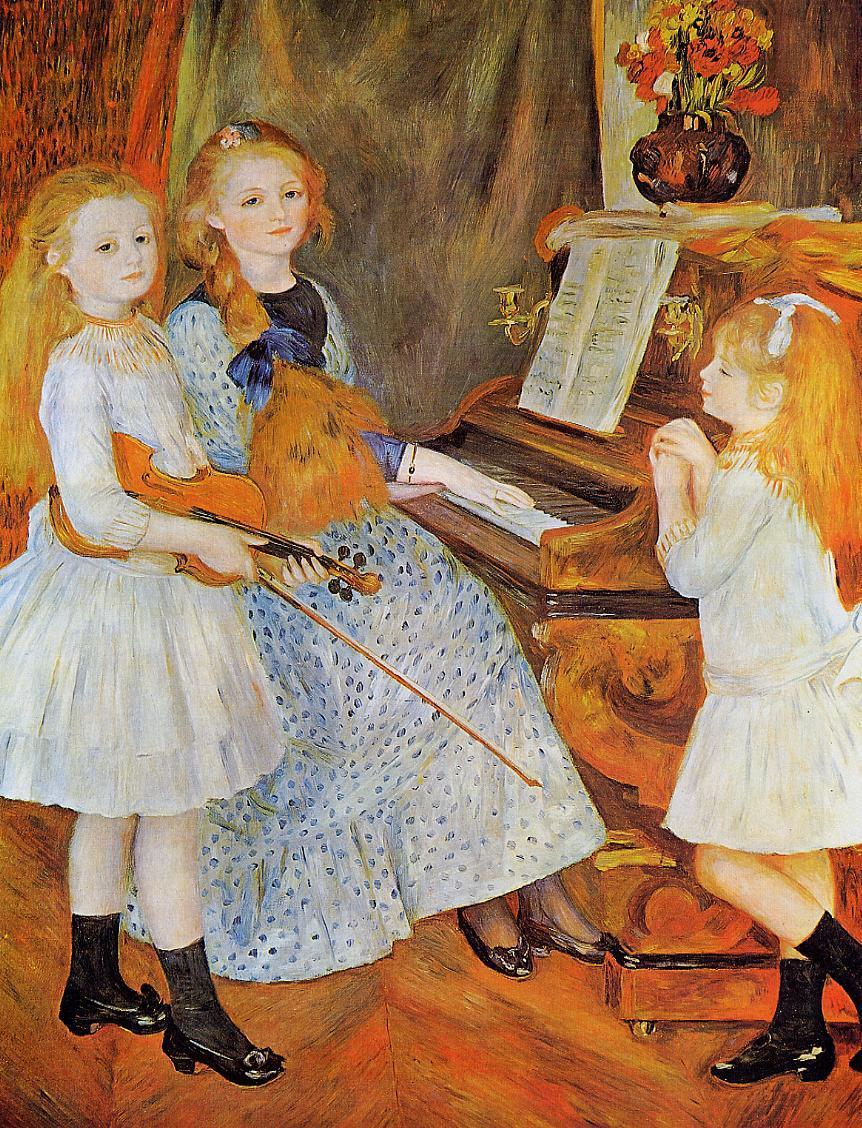 The Daughters of Catulle Mendes 1888 | Pierre Auguste Renoir | Oil Painting