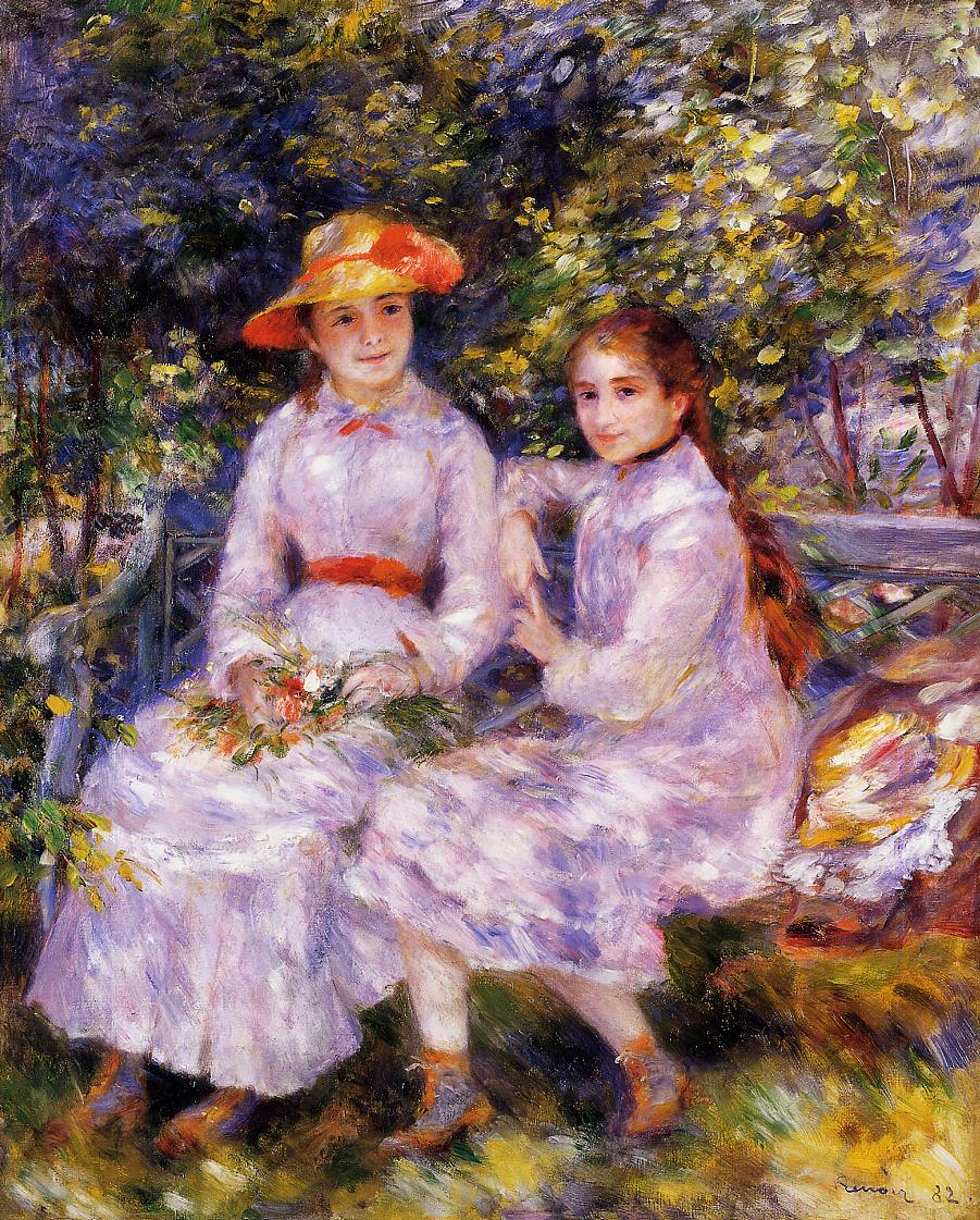 The Daughters of Paul Durand-Ruel (aka Marie-Theresa and Jeanne) 1882 | Pierre Auguste Renoir | Oil Painting