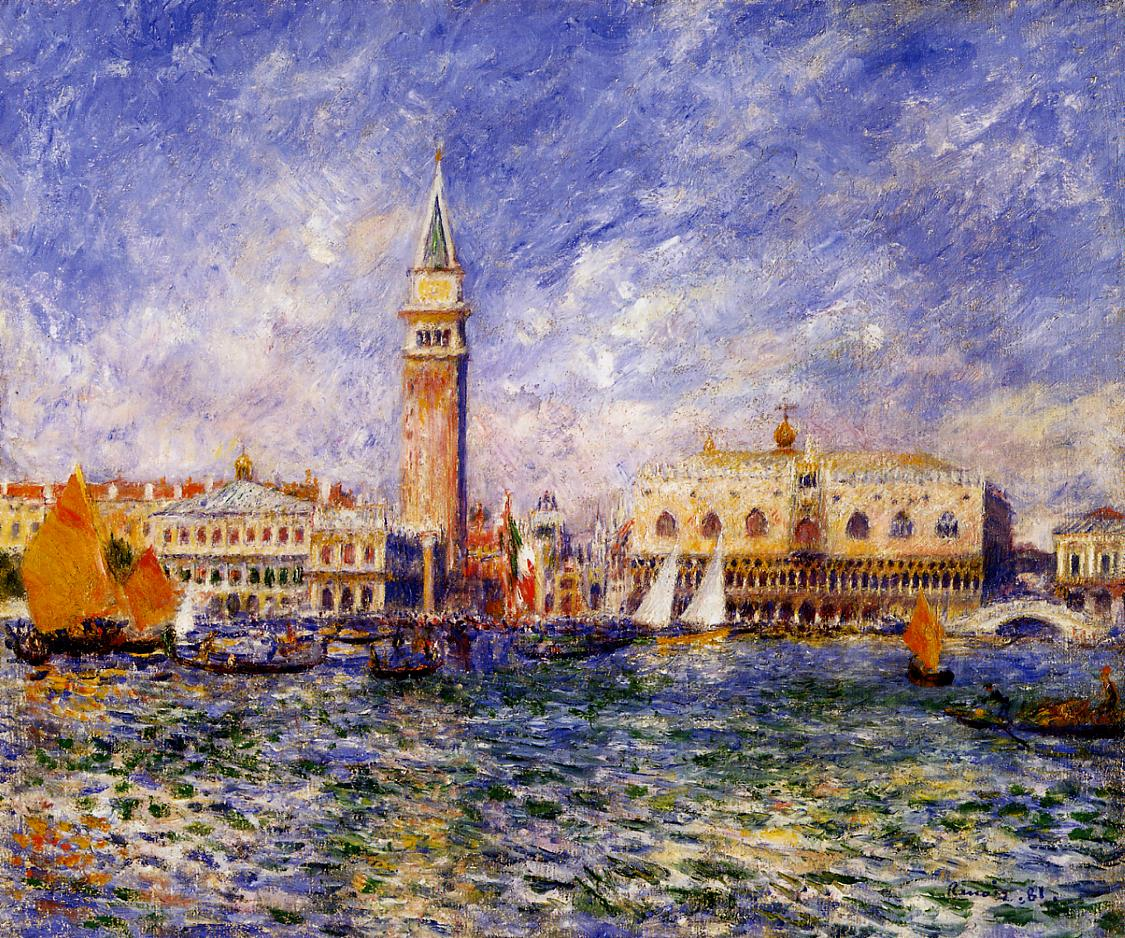 The Doges Palace Venice 1881 | Pierre Auguste Renoir | Oil Painting