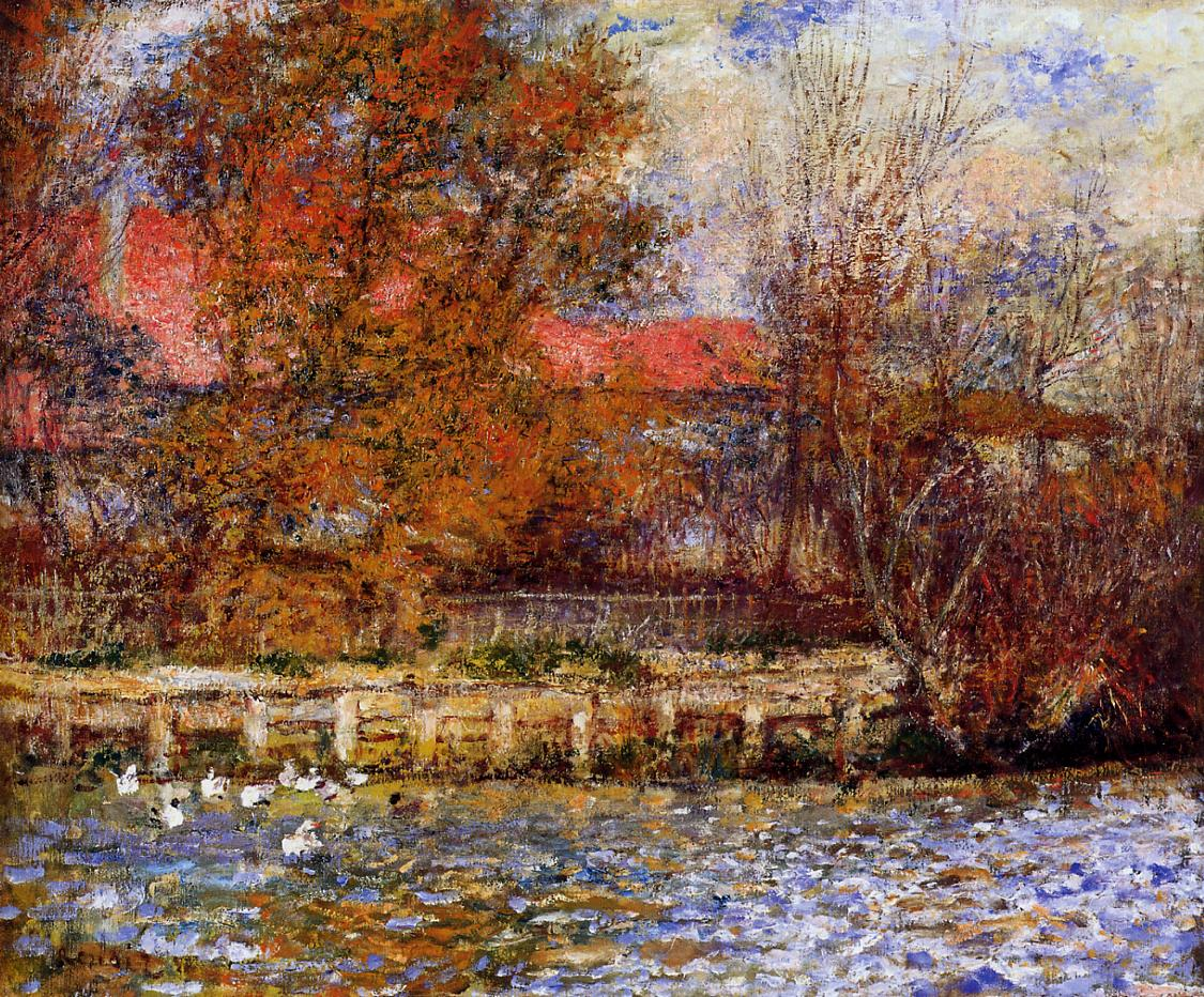 The Duck Pond 1873 | Pierre Auguste Renoir | Oil Painting