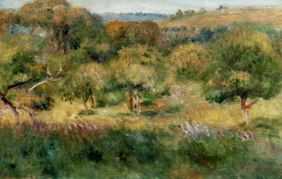The Edge of the Forest in Brittany 1893 | Pierre Auguste Renoir | Oil Painting