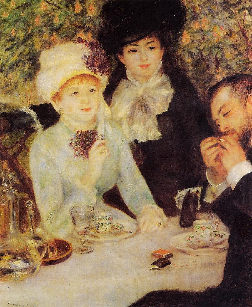 The End of Lunch 1879 | Pierre Auguste Renoir | Oil Painting