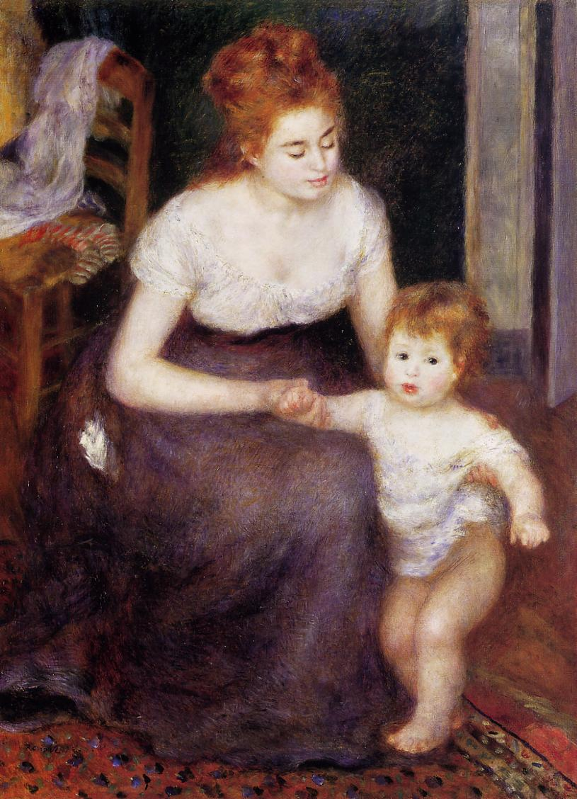 The First Step 1876 | Pierre Auguste Renoir | Oil Painting
