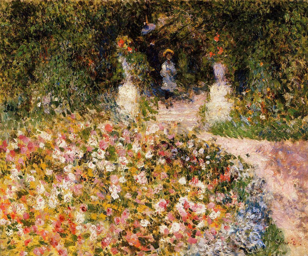 The Garden (aka In the Park) 1875 | Pierre Auguste Renoir | Oil Painting