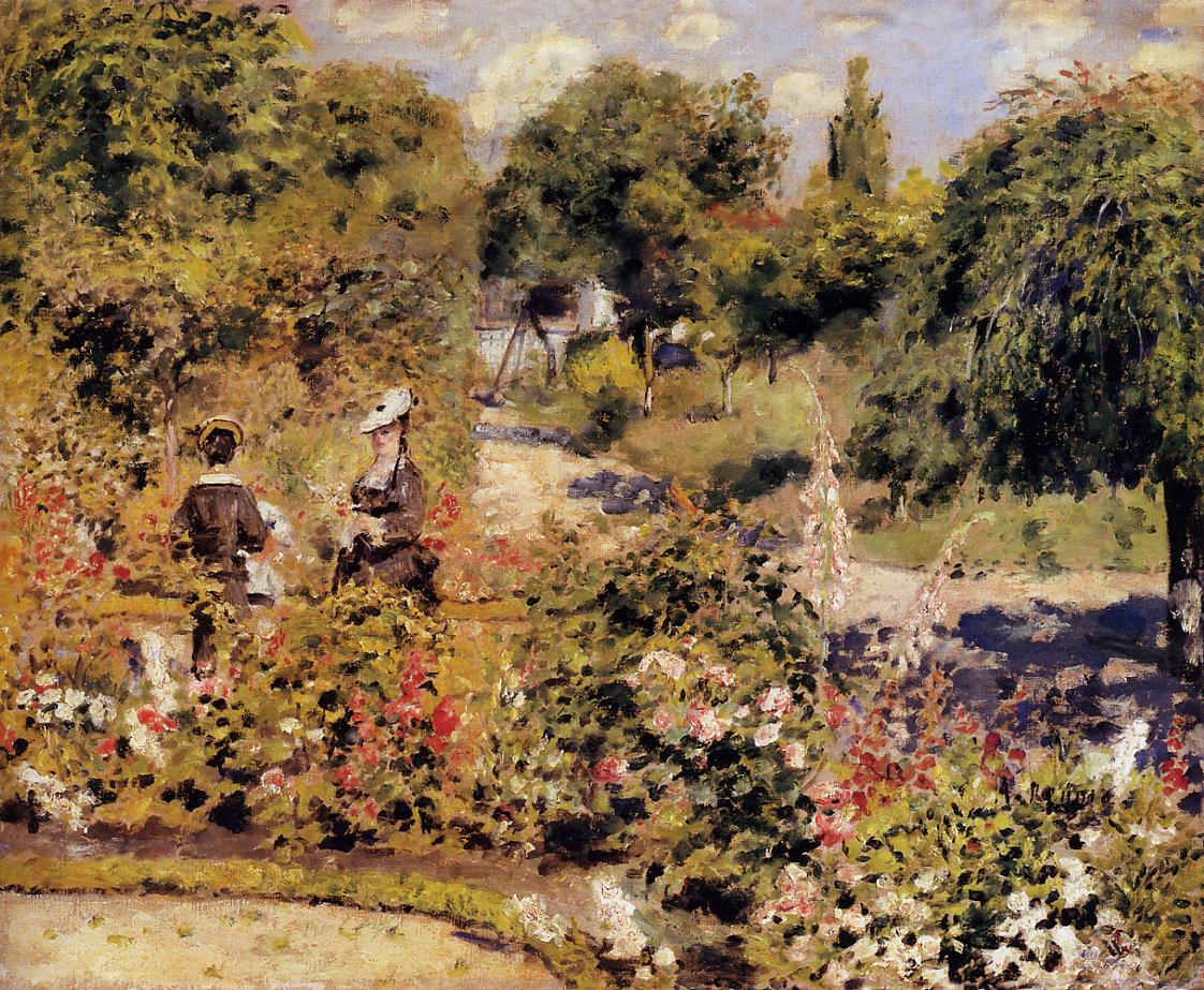 The Garden at Fontenay 1874 | Pierre Auguste Renoir | Oil Painting