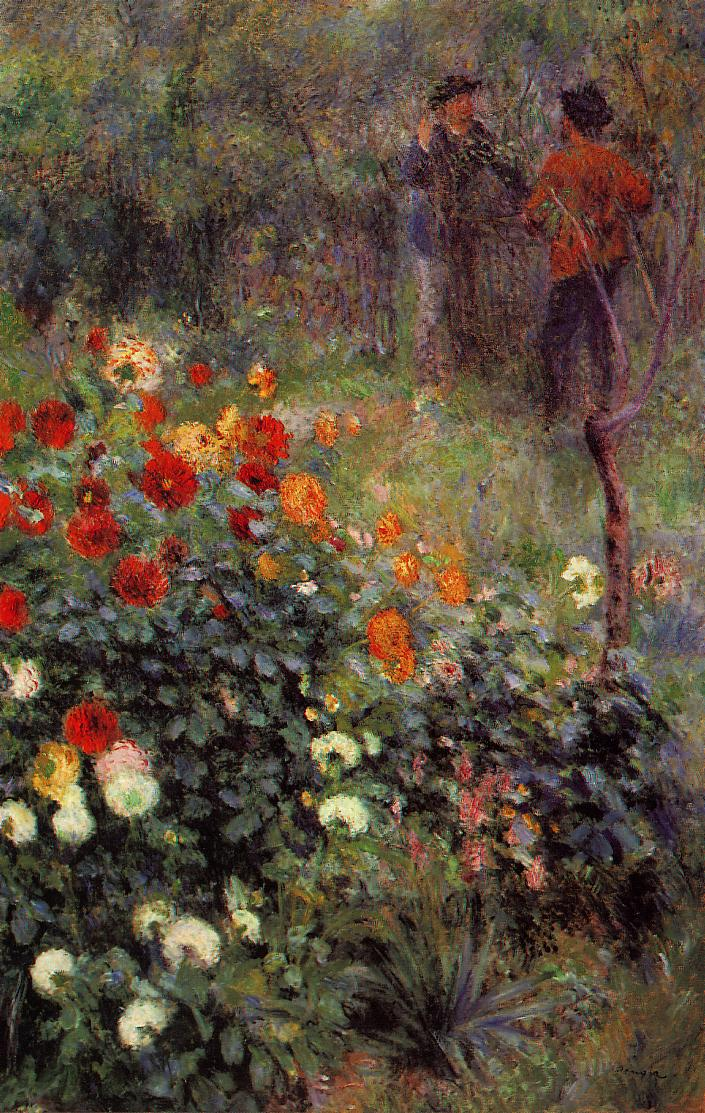 The Garden in the Rue Cortot at Montmartre 1876 | Pierre Auguste Renoir | Oil Painting