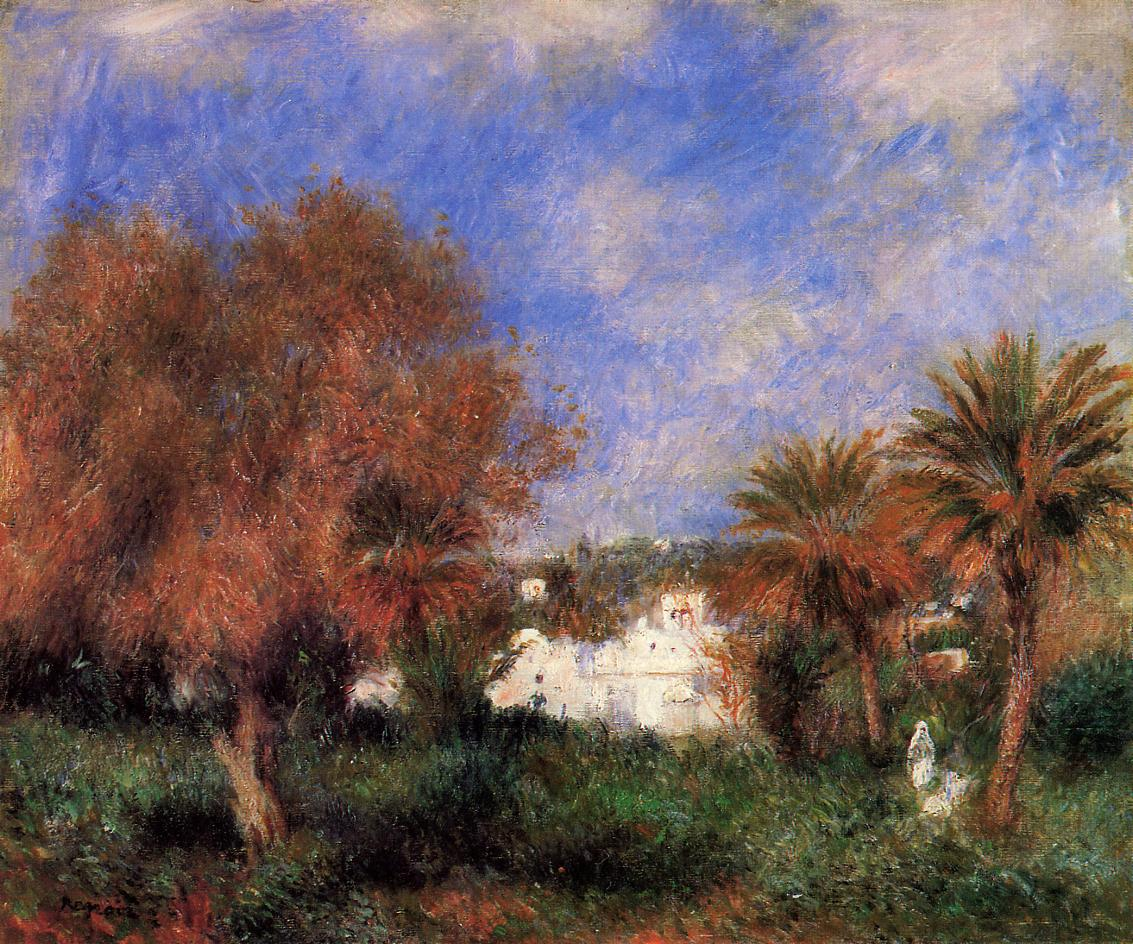 The Garden of Essai in Algiers 1881 | Pierre Auguste Renoir | Oil Painting