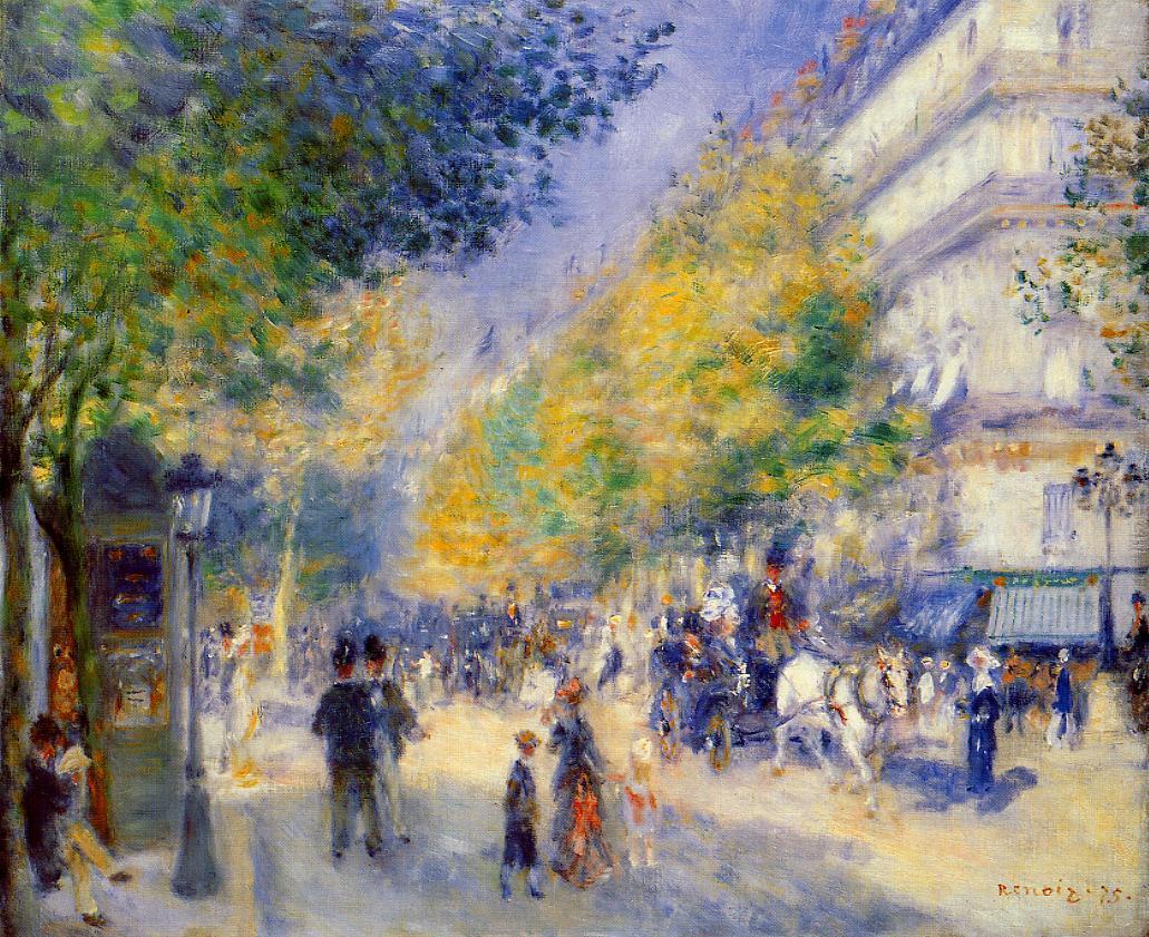The Great Boulevards 1875 | Pierre Auguste Renoir | Oil Painting