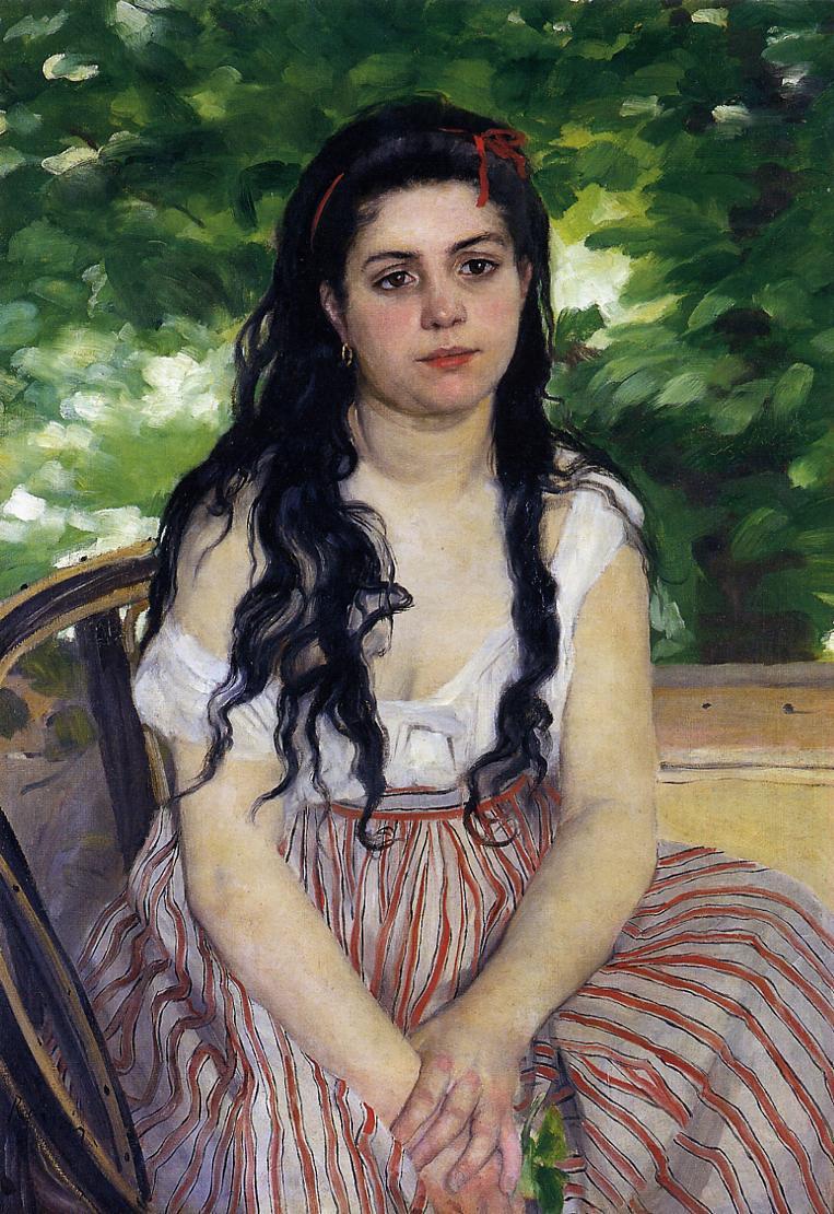 The Gypsy Girl (aka Summer) 1868 | Pierre Auguste Renoir | Oil Painting