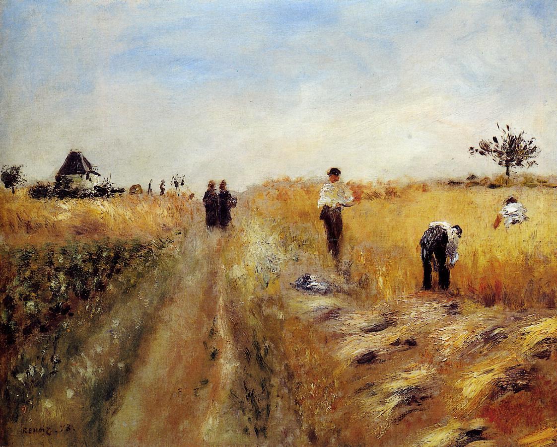 The Harvesters 1873 | Pierre Auguste Renoir | Oil Painting
