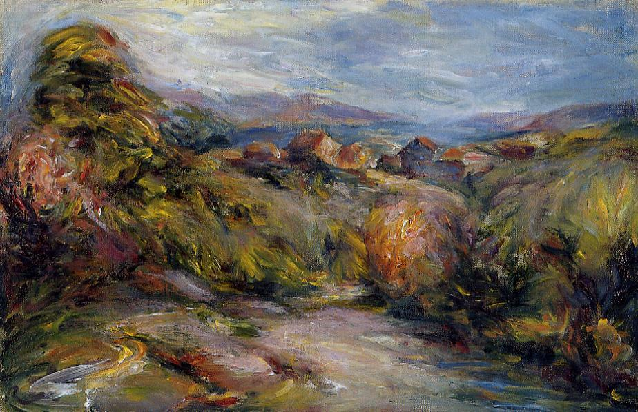 The Hills of Cagnes | Pierre Auguste Renoir | Oil Painting