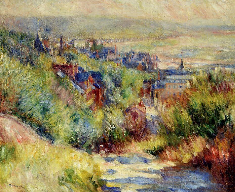 The Hills of Trouville 1885 | Pierre Auguste Renoir | Oil Painting
