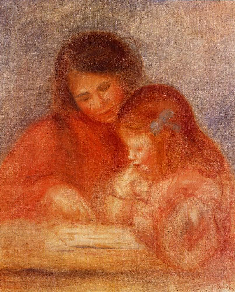 The Lesson 1900 | Pierre Auguste Renoir | Oil Painting