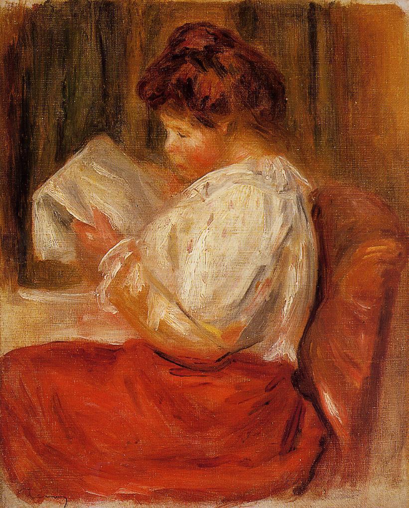 The Little Reader | Pierre Auguste Renoir | Oil Painting
