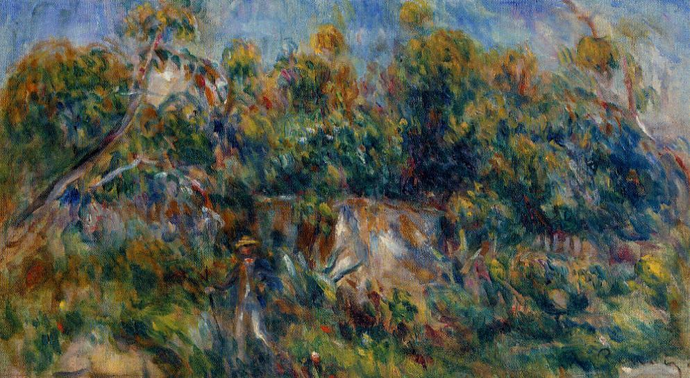 The Painter Taking a Stroll at Cagnes | Pierre Auguste Renoir | Oil Painting