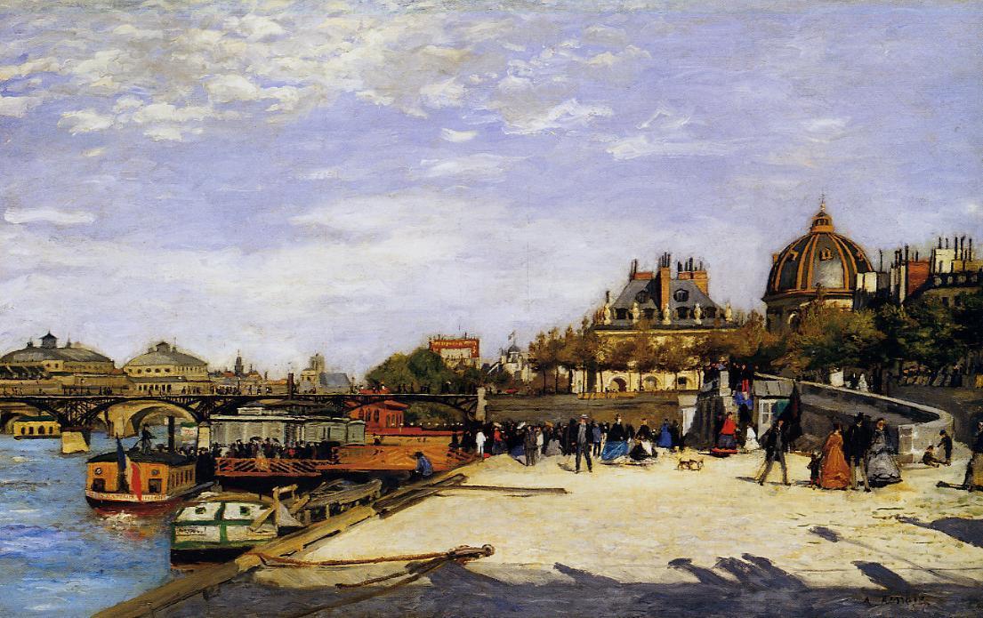 The Pont des Arts and the Institut de France 1867 | Pierre Auguste Renoir | Oil Painting