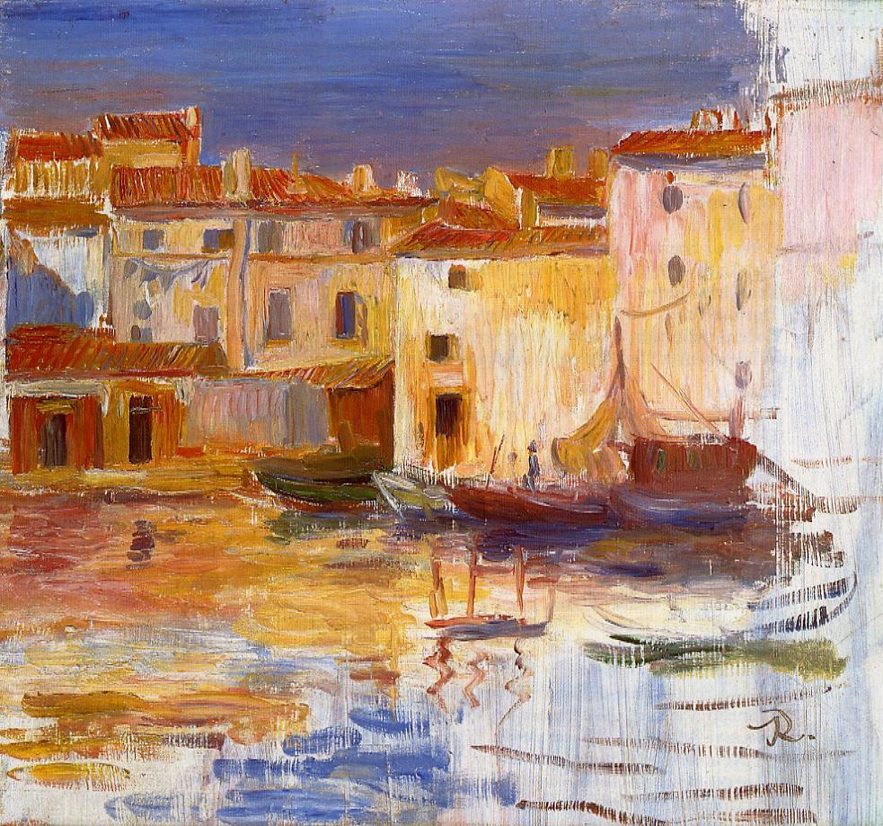 The Port of Martigues 1888 | Pierre Auguste Renoir | Oil Painting