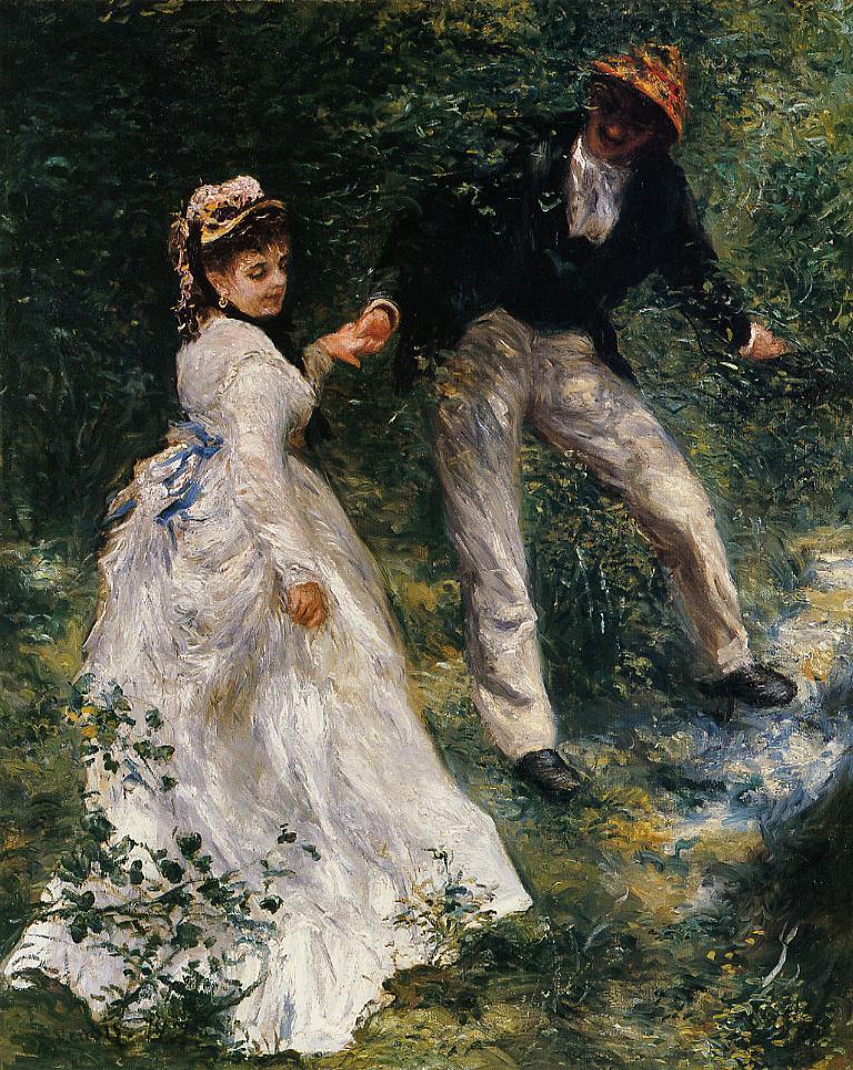 The Promenade 1870 | Pierre Auguste Renoir | Oil Painting