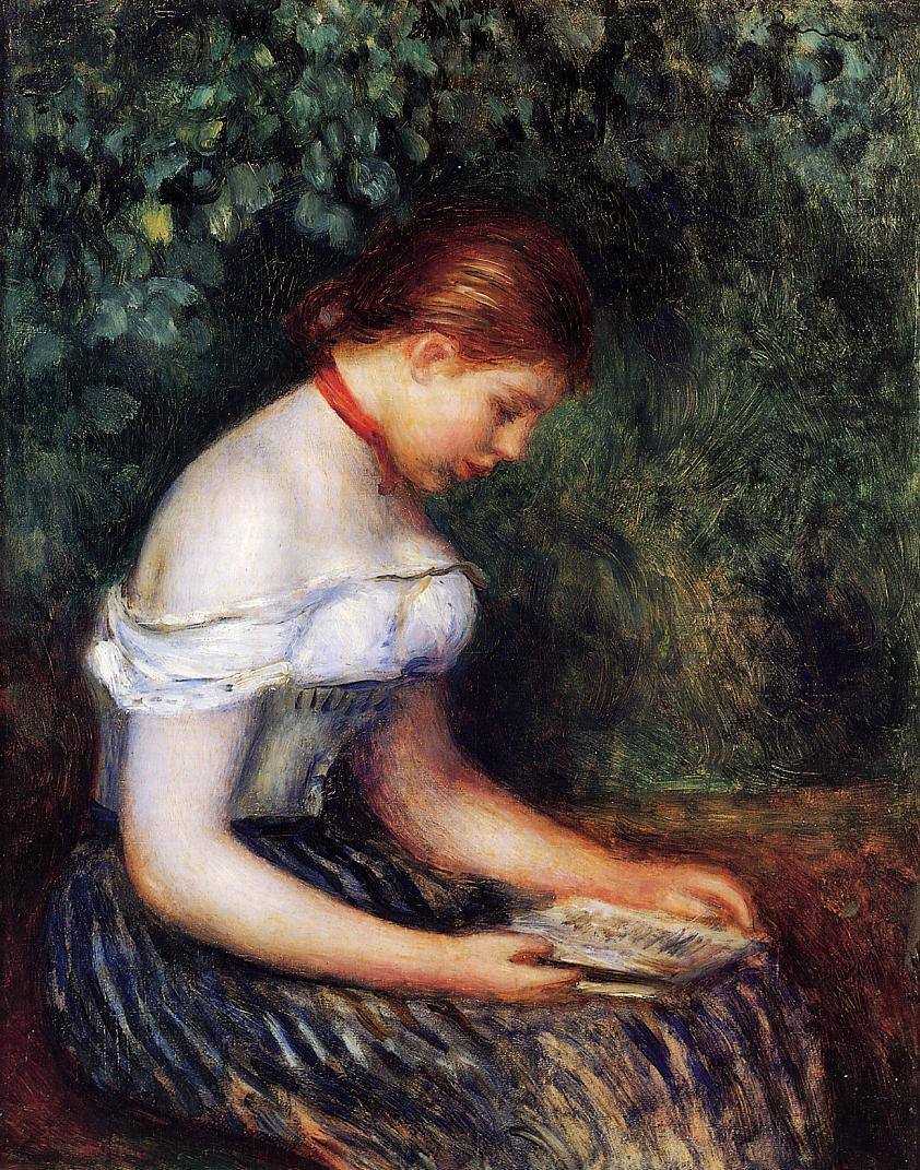 The Reader (aka Seated Young Woman) 1887 | Pierre Auguste Renoir | Oil Painting