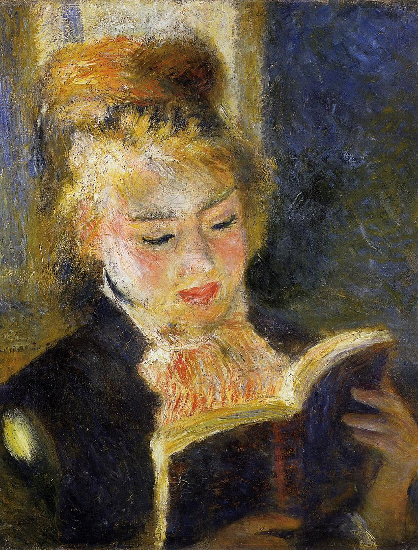 The Reader (aka Young Woman Reading a Book) 1875-1876 | Pierre Auguste Renoir | Oil Painting