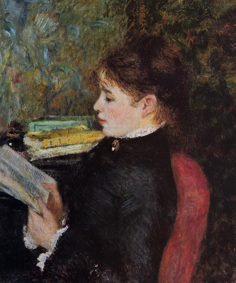 The Reader 1877 | Pierre Auguste Renoir | Oil Painting
