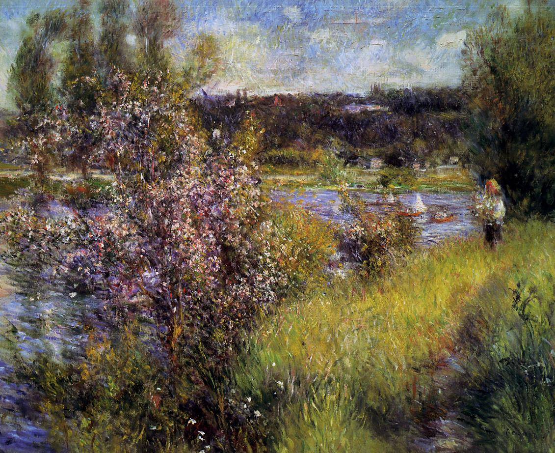 The Seine at Chatou 1881 | Pierre Auguste Renoir | Oil Painting