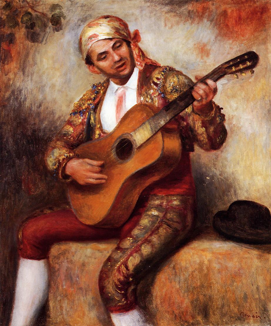 The Spanish Guitarist 1897 | Pierre Auguste Renoir | Oil Painting