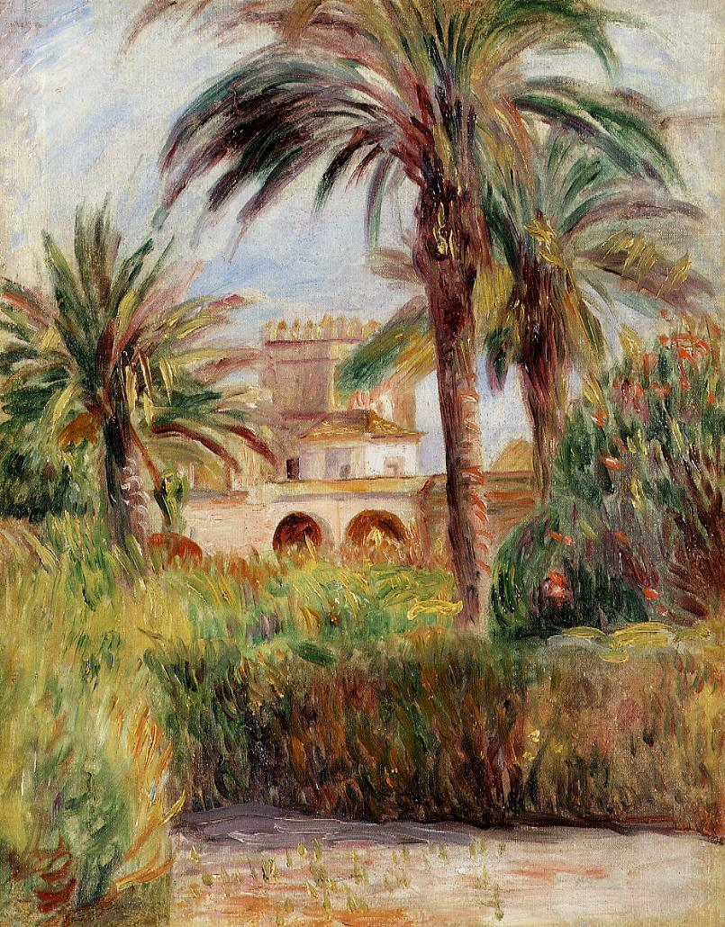 The Test Garden in Algiers 1882 | Pierre Auguste Renoir | Oil Painting