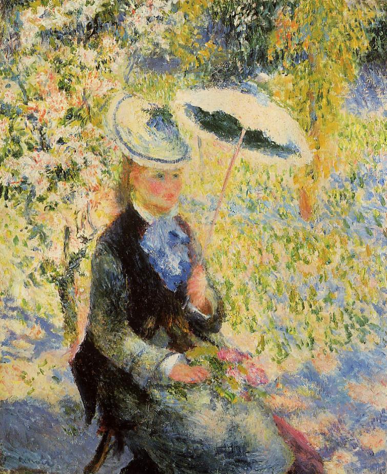 The Umbrella 1878 | Pierre Auguste Renoir | Oil Painting