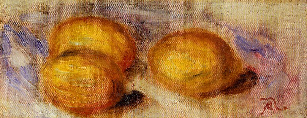 Three Lemons 1918 | Pierre Auguste Renoir | Oil Painting