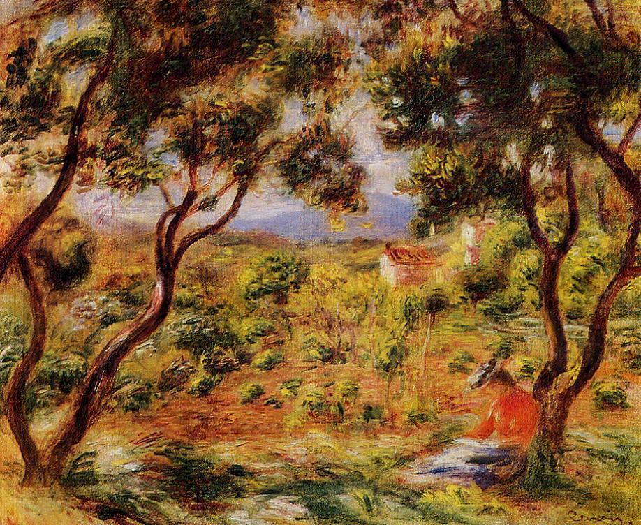 The Vineyards of Cagnes 1908 | Pierre Auguste Renoir | Oil Painting