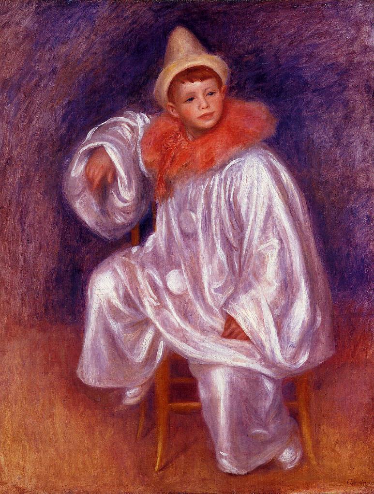 The White Pierrot (Jean Renoir) 1901-1902 | Pierre Auguste Renoir | Oil Painting