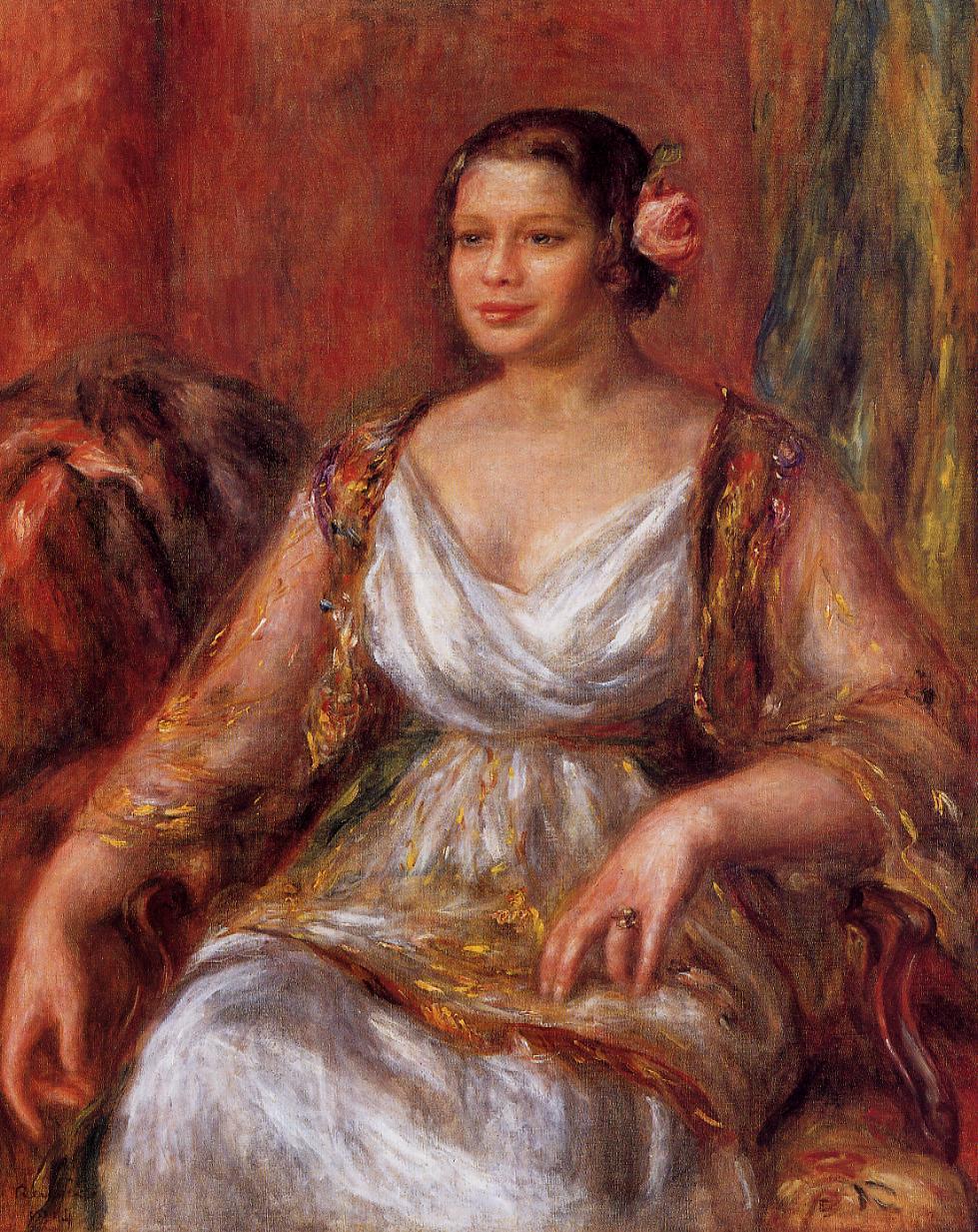 Tilla Durieux 1914   Pierre Auguste Renoir   Oil Painting