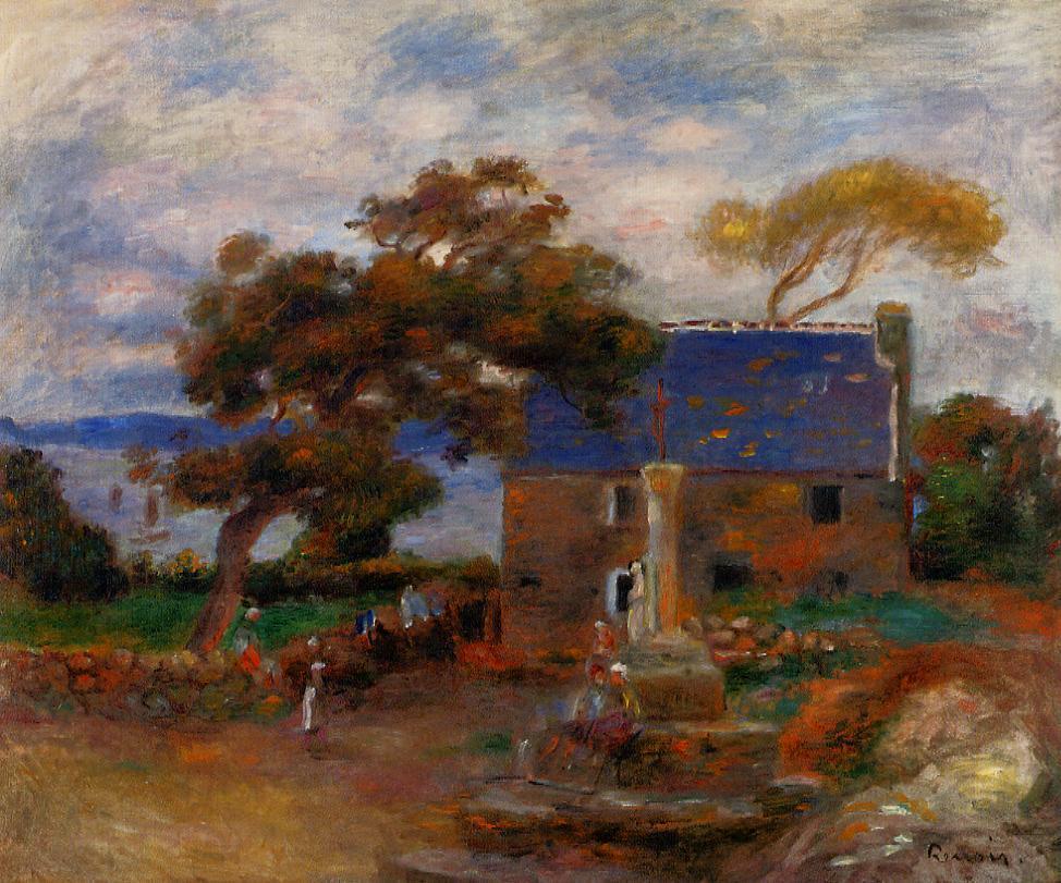 Treboul near Douardenez Brittany 1895   Pierre Auguste Renoir   Oil Painting