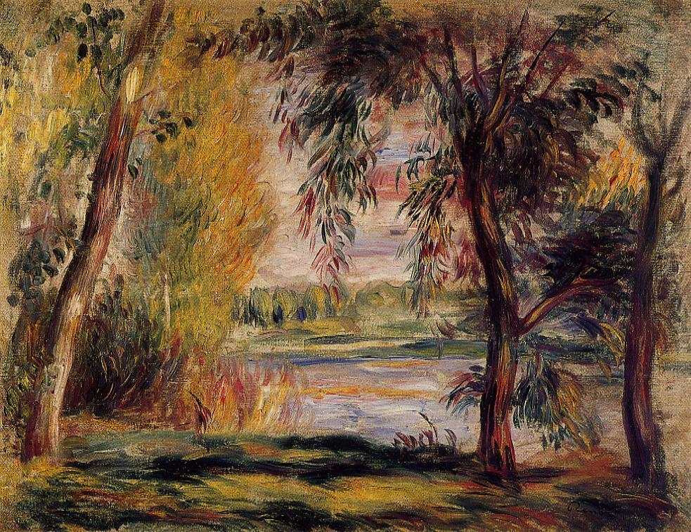 Trees by the Water   Pierre Auguste Renoir   Oil Painting