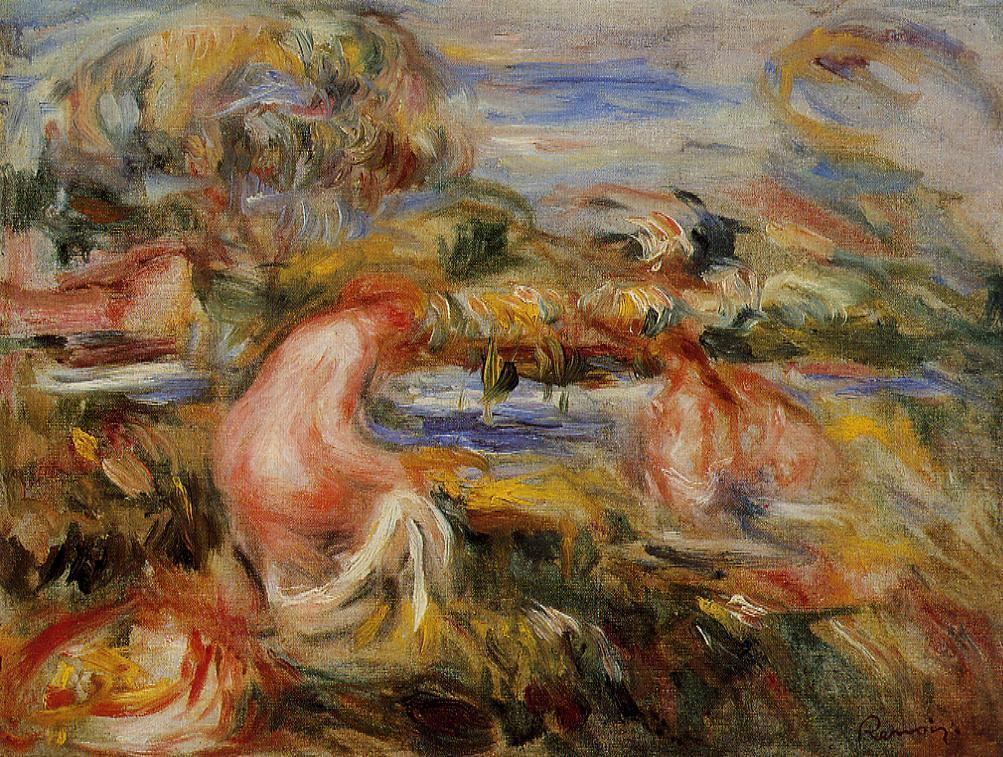 Two Bathers in a Landscape 1919 | Pierre Auguste Renoir | Oil Painting