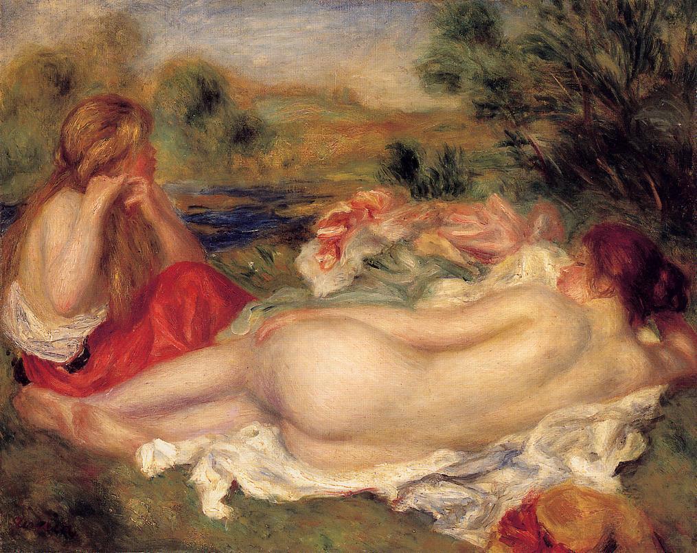 Two Bathers 1896   Pierre Auguste Renoir   Oil Painting
