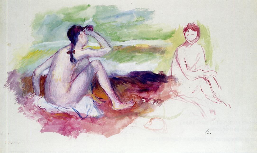 Two Bathers   Pierre Auguste Renoir   Oil Painting