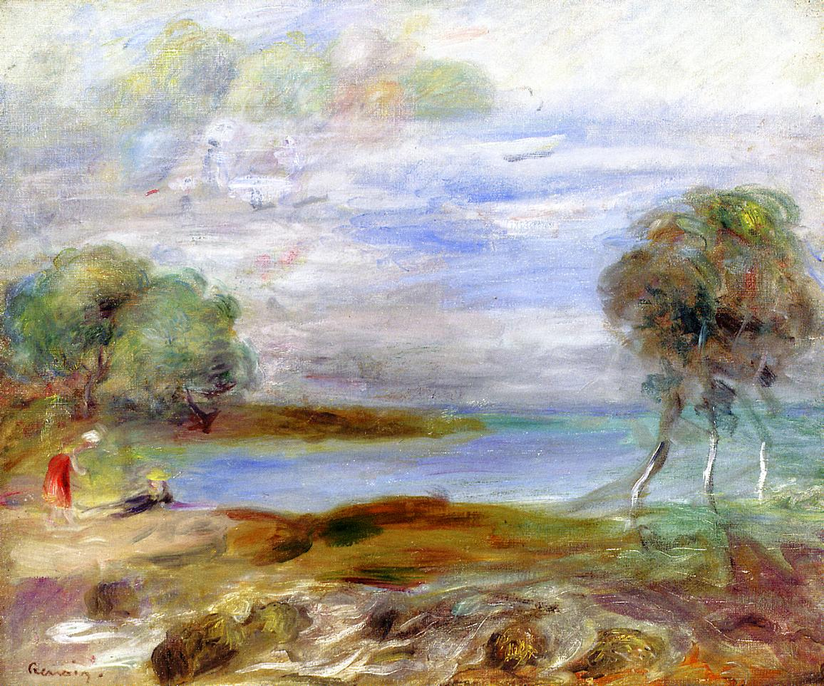 Two Figures by the Water | Pierre Auguste Renoir | Oil Painting