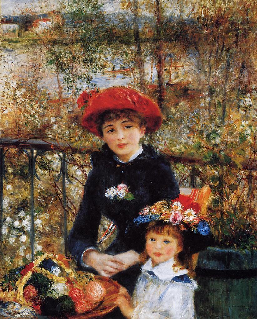 Two Sisters (aka On the Terrace) 1881   Pierre Auguste Renoir   Oil Painting
