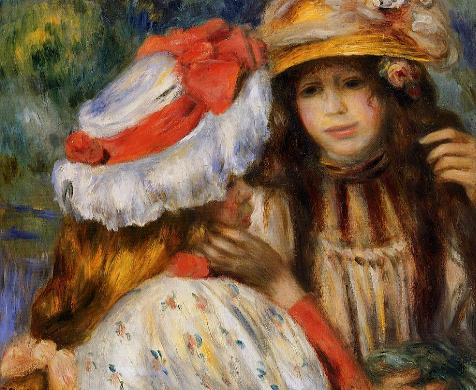 Two Sisters 1895 | Pierre Auguste Renoir | Oil Painting