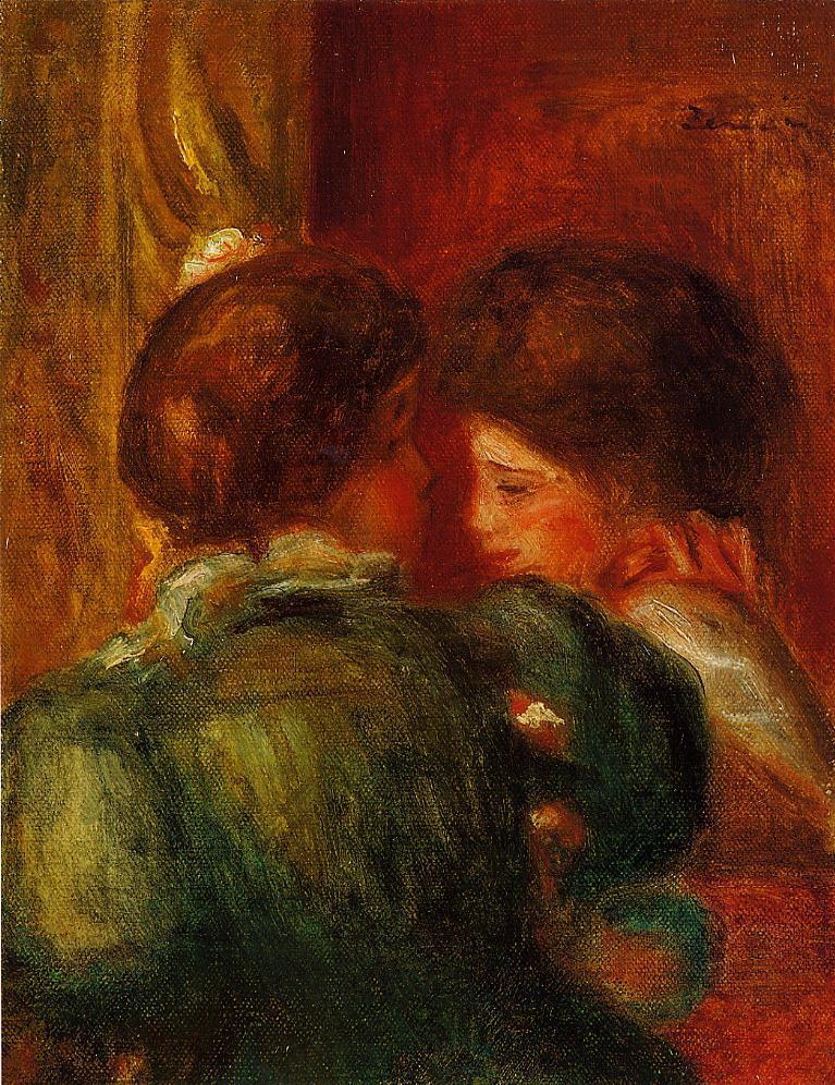 Two Womens Heads (aka The Loge) 1903 | Pierre Auguste Renoir | Oil Painting