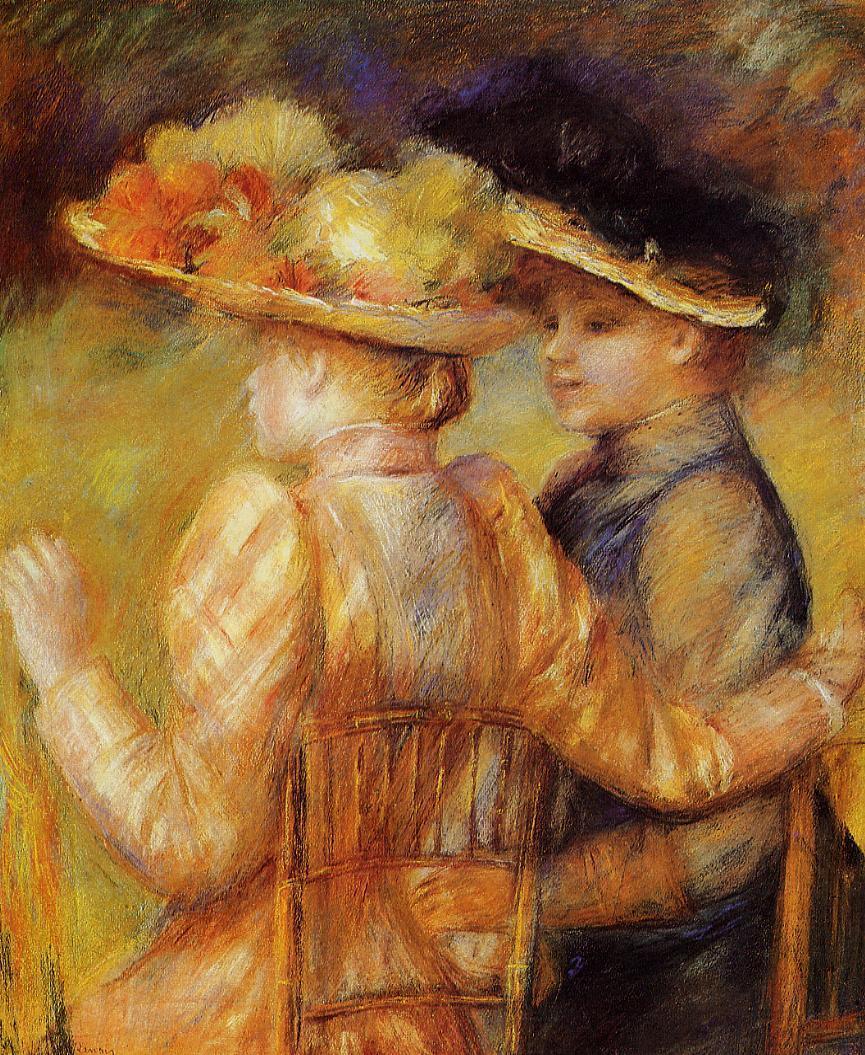 Two Women in a Garden 1895   Pierre Auguste Renoir   Oil Painting